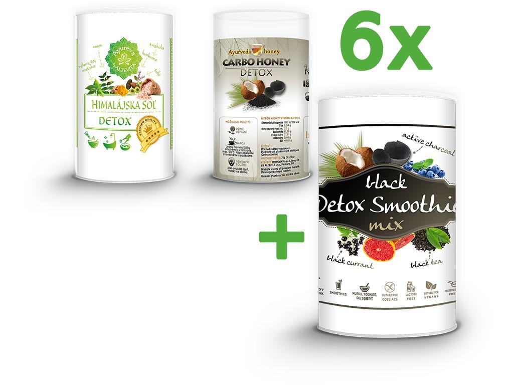 Altevita Black detox smoothie mix - Jarní detox akční balení