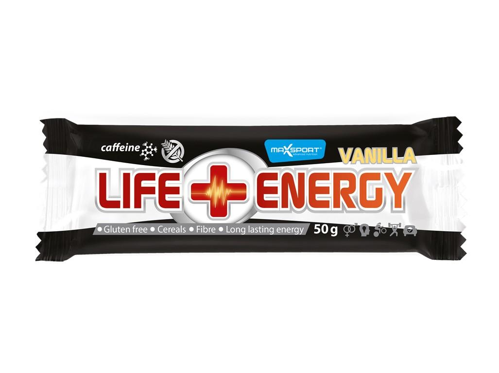Max sport LIFE ENERGY GF Caffeine vanilka 50 g