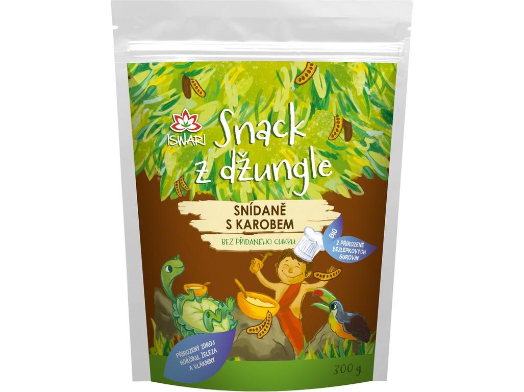 Iswari Snídaňová směs snack z džungle karob (dětská snídaně) 300g