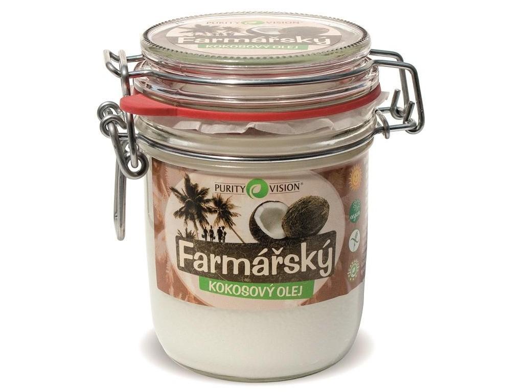 Purity Vision Farmářský kokosový olej ve skle 300ml