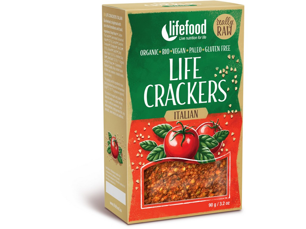 Lifefood Life crackers Italské RAW BIO 90 g