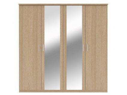 Screenshot 2021 02 04 Drēbju skapis ar četrām durvīm Bronte, ozola krāsas
