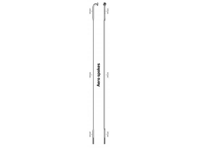 Drát plochý Sapim CX-Ray Straight Pull 2-2.2x0.9-2mm černý