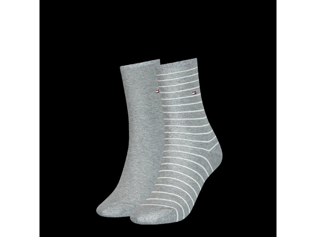 29609 damske ponozky tommy hilfiger women sock 2p small stripe vel 39 42