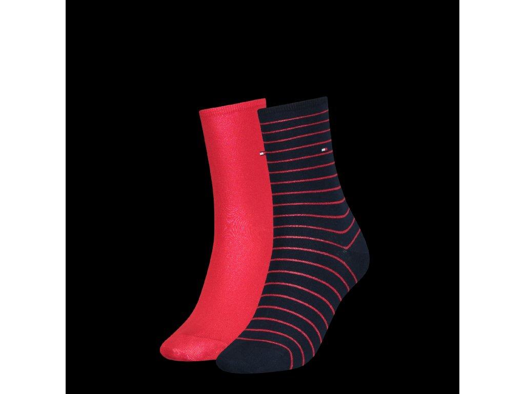 29612 damske ponozky tommy hilfiger women sock 2p small stripe vel 35 38