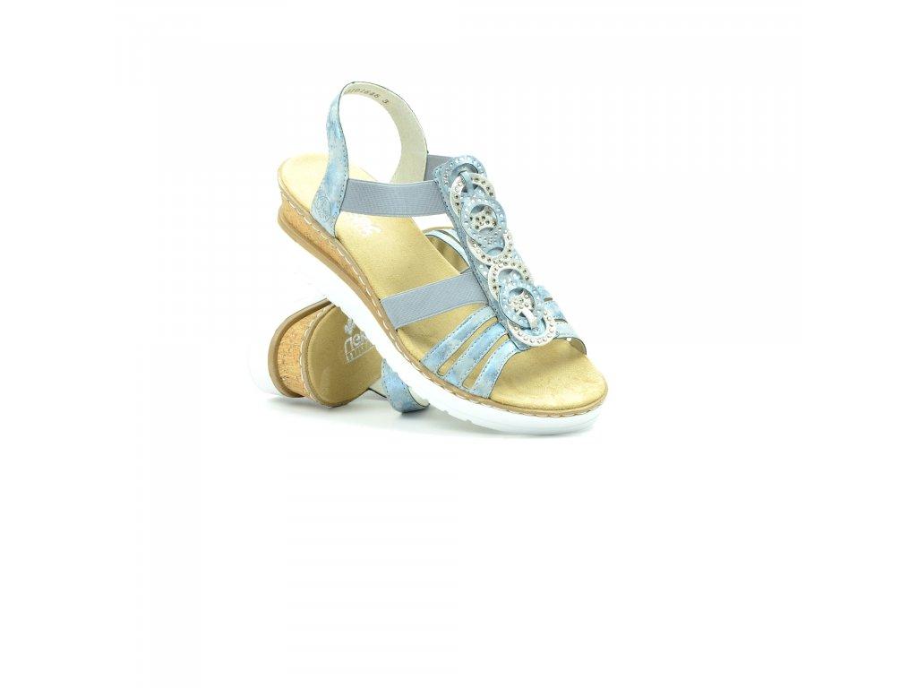 Dámské sandály Rieker V38H8-12 (Velikost 42)