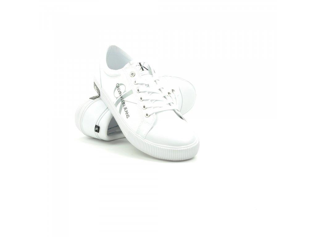 Pánské tenisky Calvin Klein-YM0YM00015-YAF-Bright White (Velikost 45)