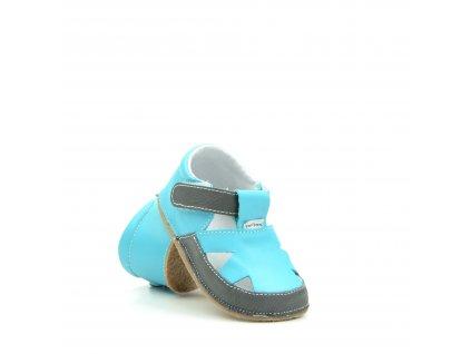 Pegres 1096 modrá sandálky bosé
