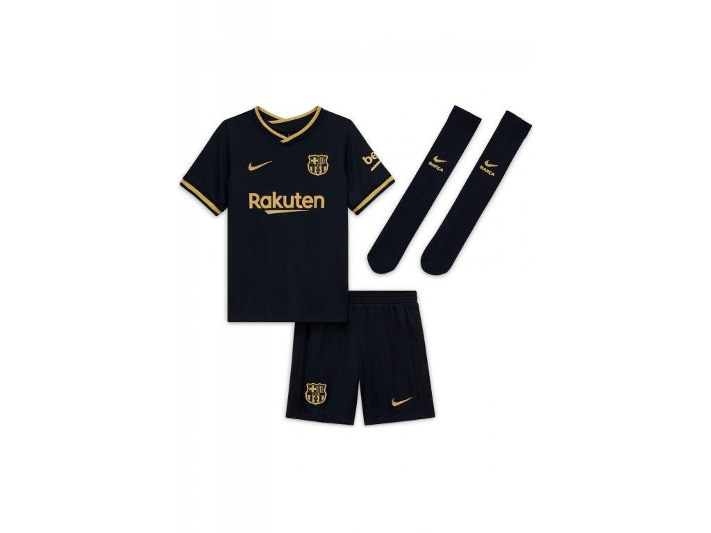 Komplet pro malé děti Nike FC Barcelona 2020/21 venkovní (3-8 let) (Velikost L)