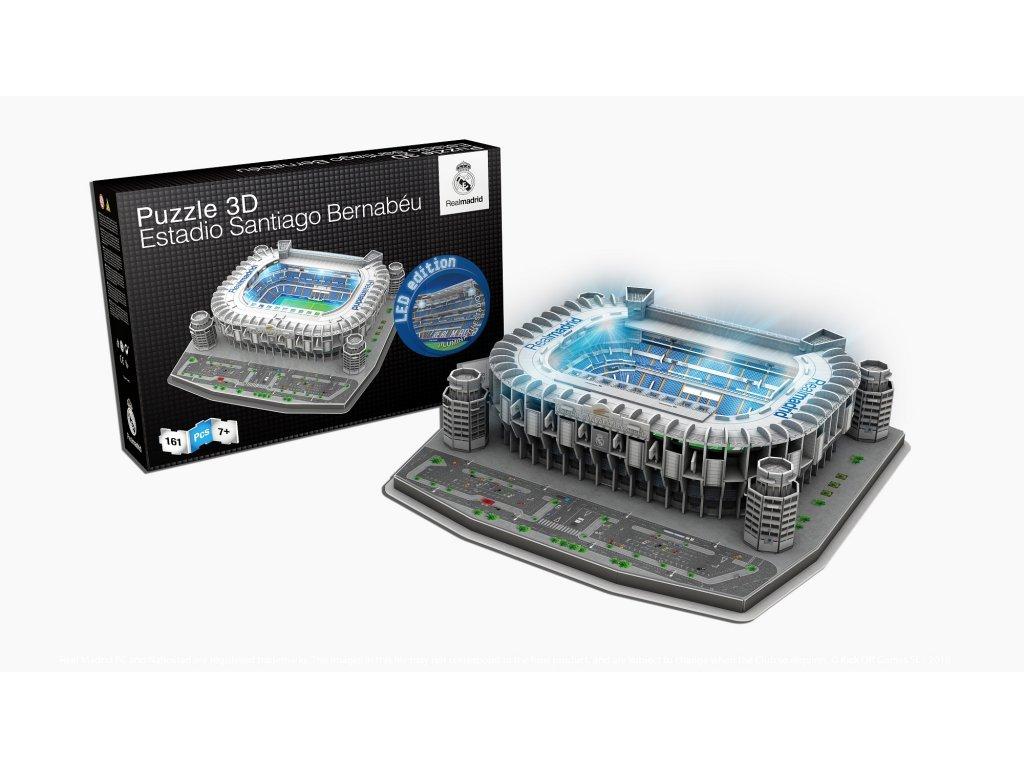 3D Puzzle Nanostad Real Madrid CF Santiago Bernabeu LED osvětlení