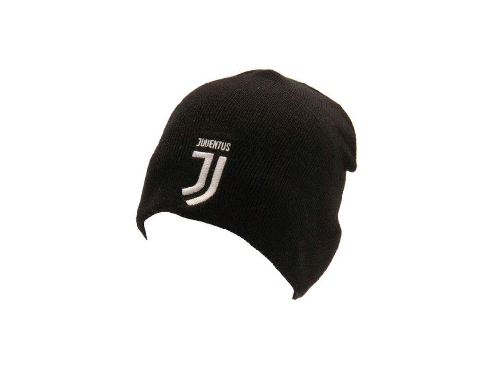 77585 jednoducha zimni upletova cepice fc juventus logo universalni cerna
