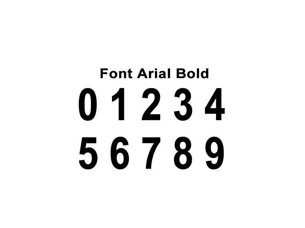 Potisky na sady dresů ARIAL BOLD 2-16