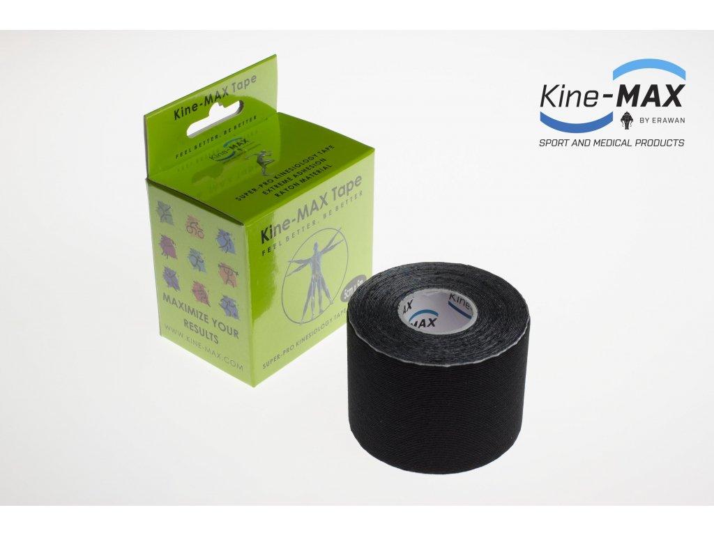 Kinesiologický tejp Super-Pro Rayon (Černý) (Rozměr 5 cm x 5 m)