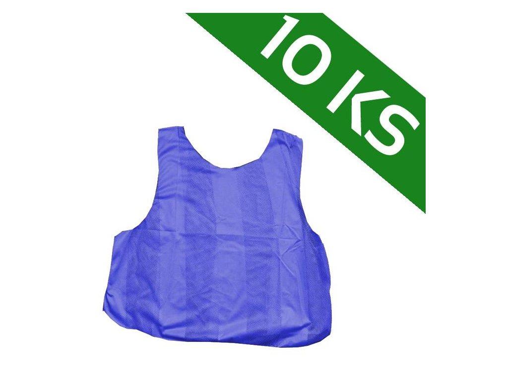 Sada 10-ti rozlišovacích dresů - modrá (Velikost XL)