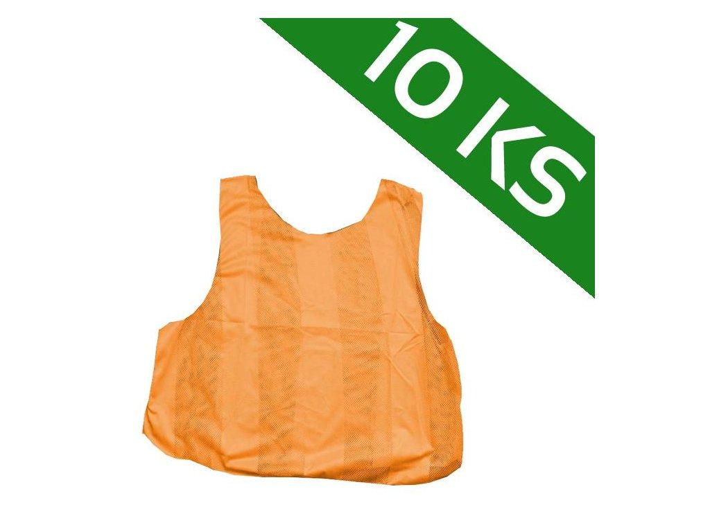 Sada 10-ti rozlišovacích dresů - oranžová (Velikost XL)
