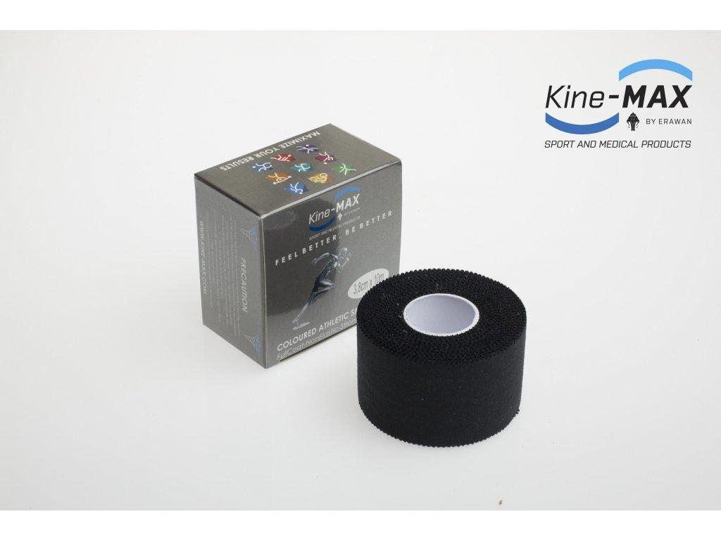 Barevná neelastická tejpovací páska Kine-MAX Team 3,8 cm x 10 m (Černá) (Rozměr 3,8 cm x 10 m)