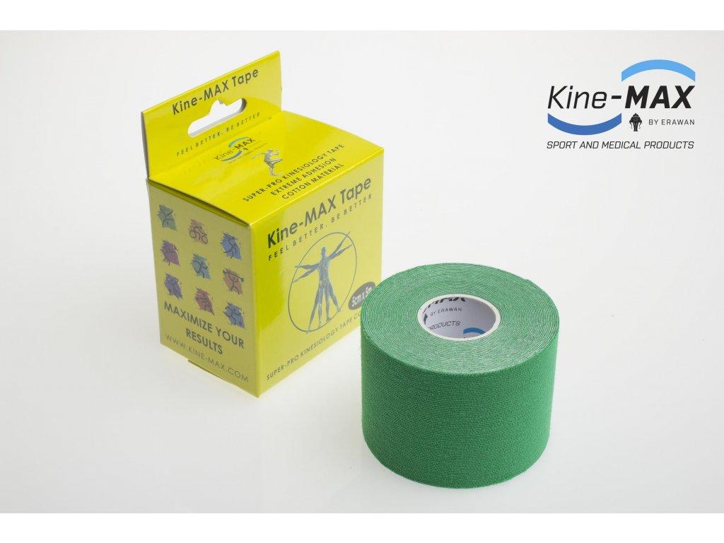 Kinesiologický tejp Super-Pro Cotton (Zelený) (Rozměr 5 cm x 5 m)