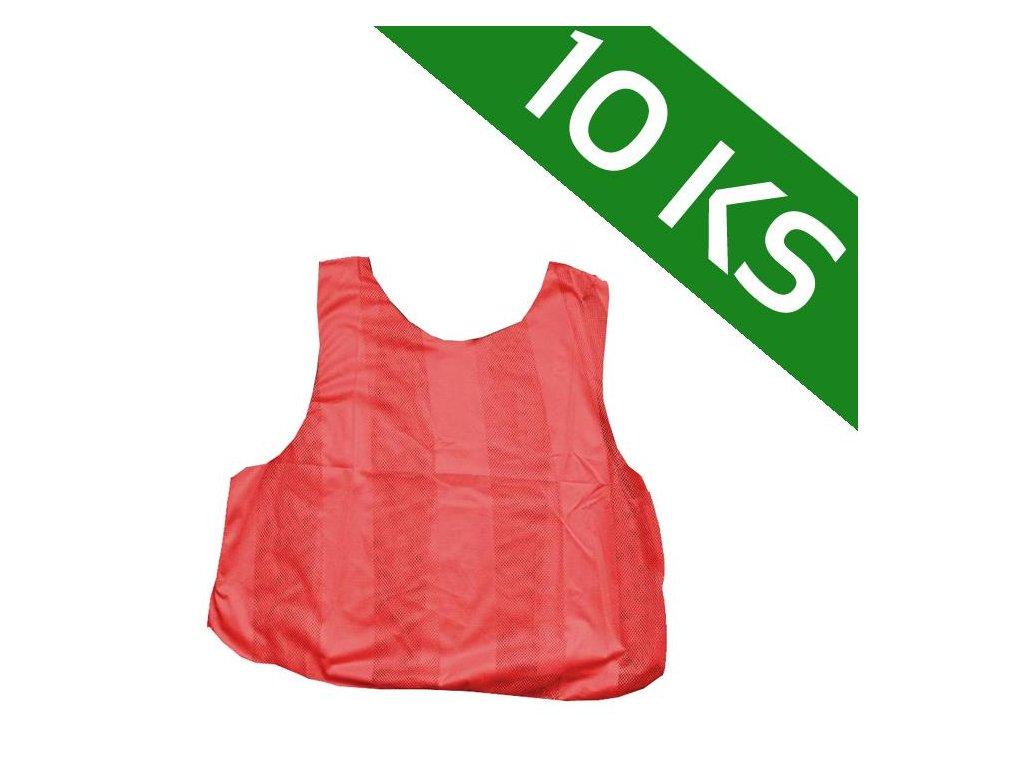 Sada 10-ti rozlišovacích dresů - červená (Velikost XL)