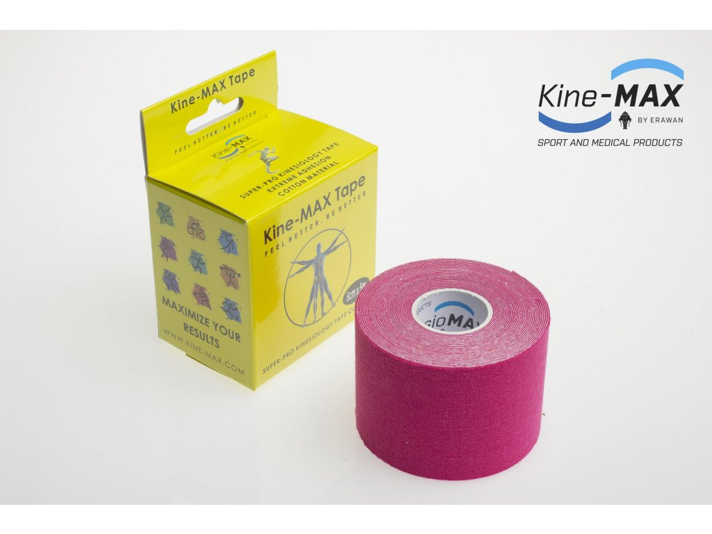 Kinesiologický tejp Super-Pro Cotton (Růžový) (Rozměr 5 cm x 5 m)