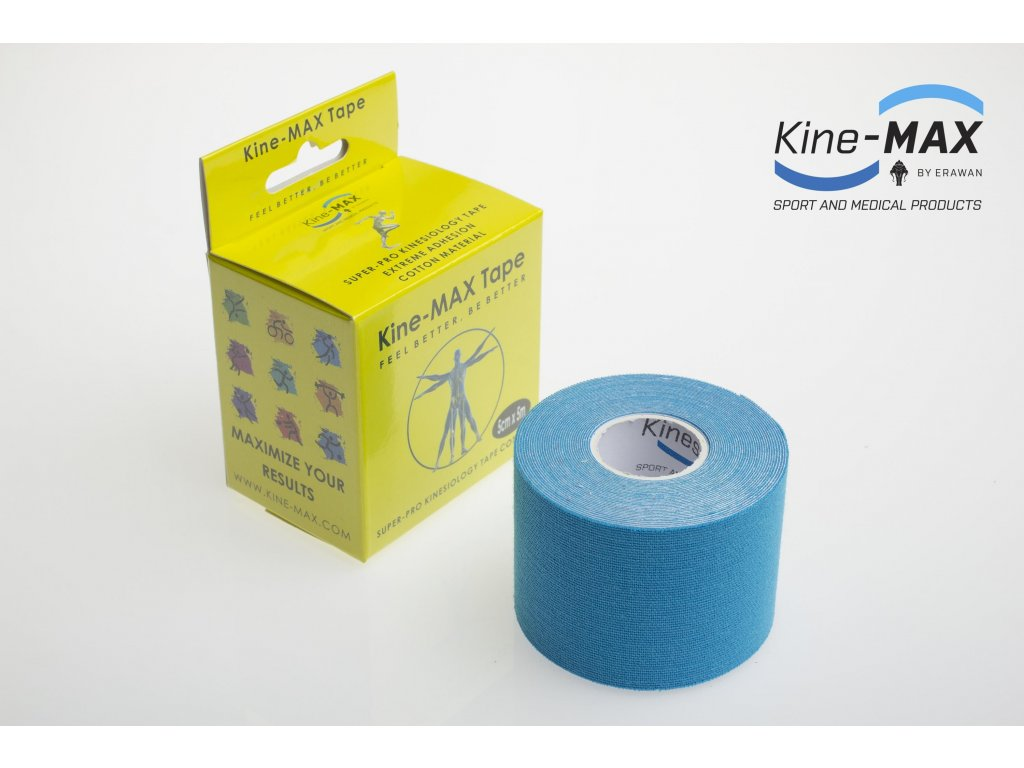 Kinesiologický tejp Super-Pro Cotton (Modrý) (Rozměr 5 cm x 5 m)