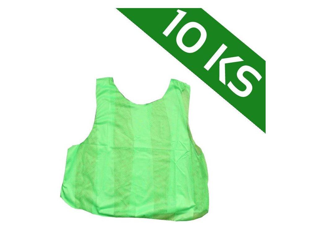 Sada 10-ti rozlišovacích dresů - zelená (Velikost XL)
