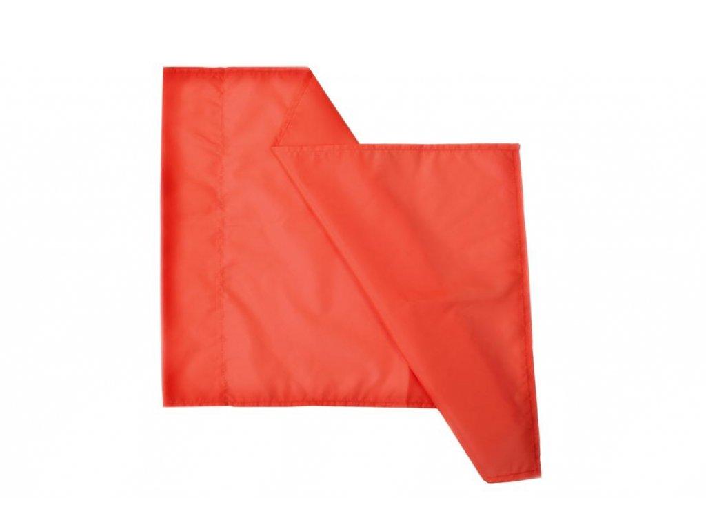 Látka pro rohový praporek průměr 30 mm, 60x40 cm - oranžová