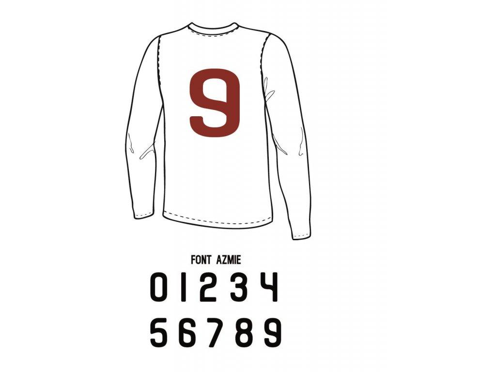 Potisk textilu - Číslo na dres 0 až 9 (AZMIE)
