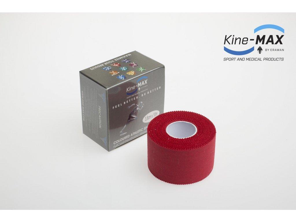 Barevná neelastická tejpovací páska Kine-MAX Team 3,8 cm x 10 m (Červená) (Rozměr 3,8 cm x 10 m)