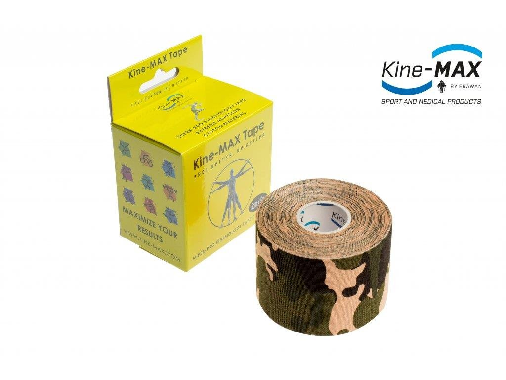 Kinesiologický tejp Super-Pro Cotton (Camo) (Rozměr 5 cm x 5 m)