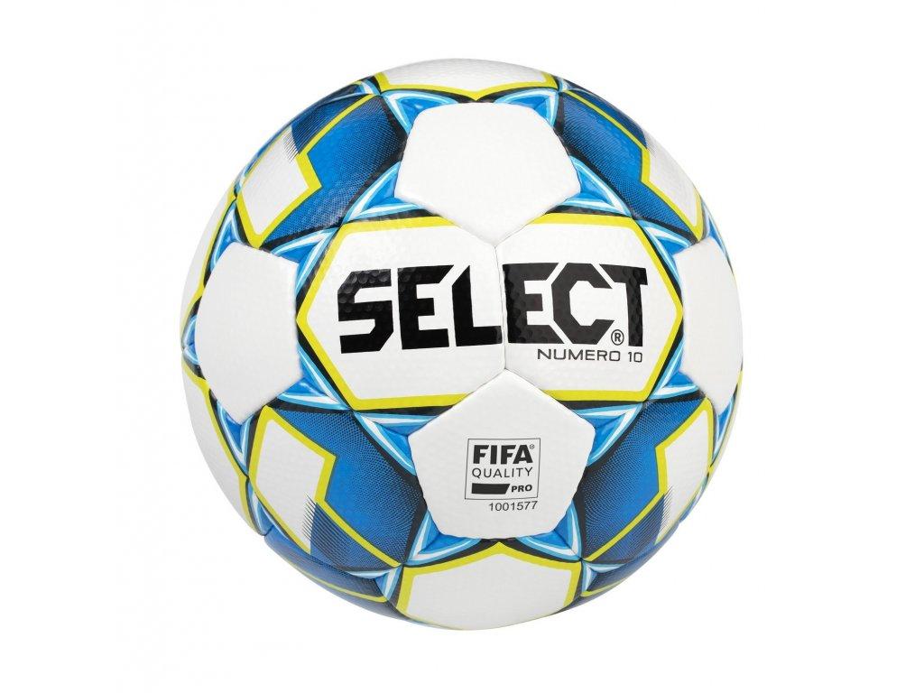 Select Fotbalový míč FB Numero 10 FIFA bílo modrá 5 (Velikost 5)