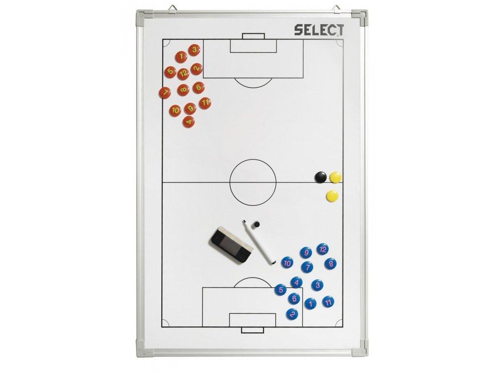 Select Taktická tabule Tactics board alu football bílá 60x90 cm