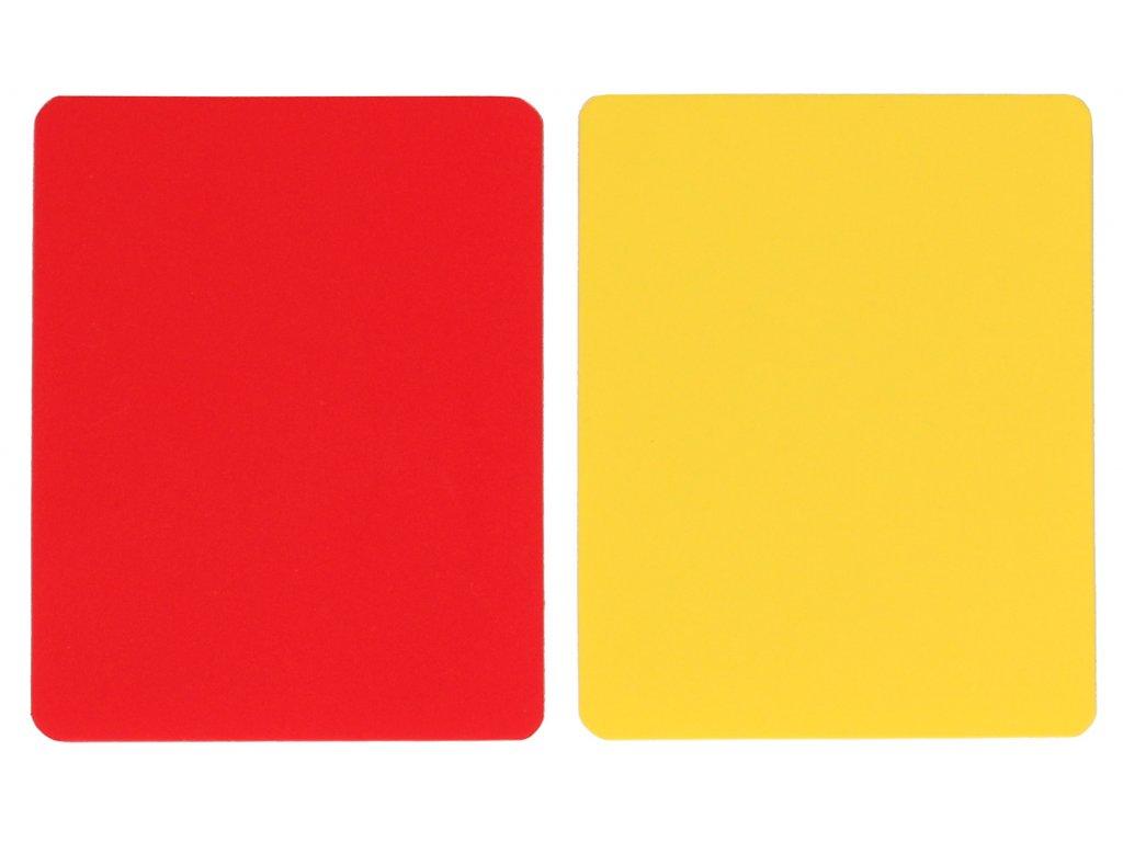 karty pro rozhodčí červená + žlutá