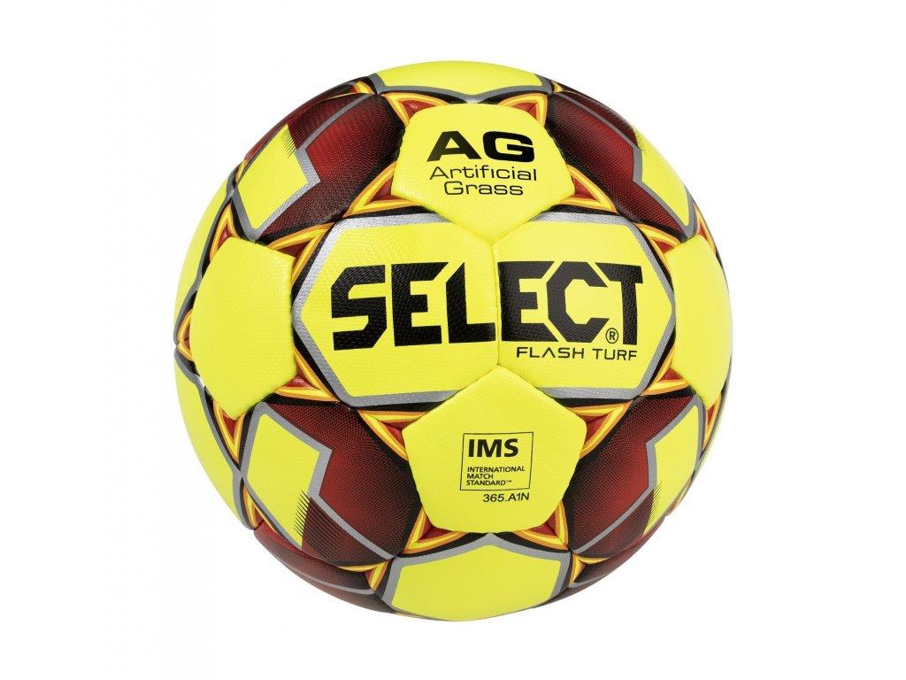 Select Fotbalový míč FB Flash Turf žluto červená 4 (Velikost 5)