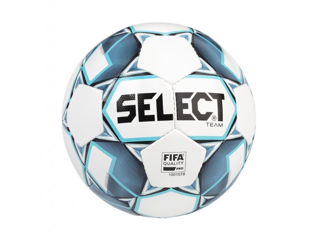 Select Fotbalový míč FB Team FIFA bílo modrá 5 (Velikost 5)