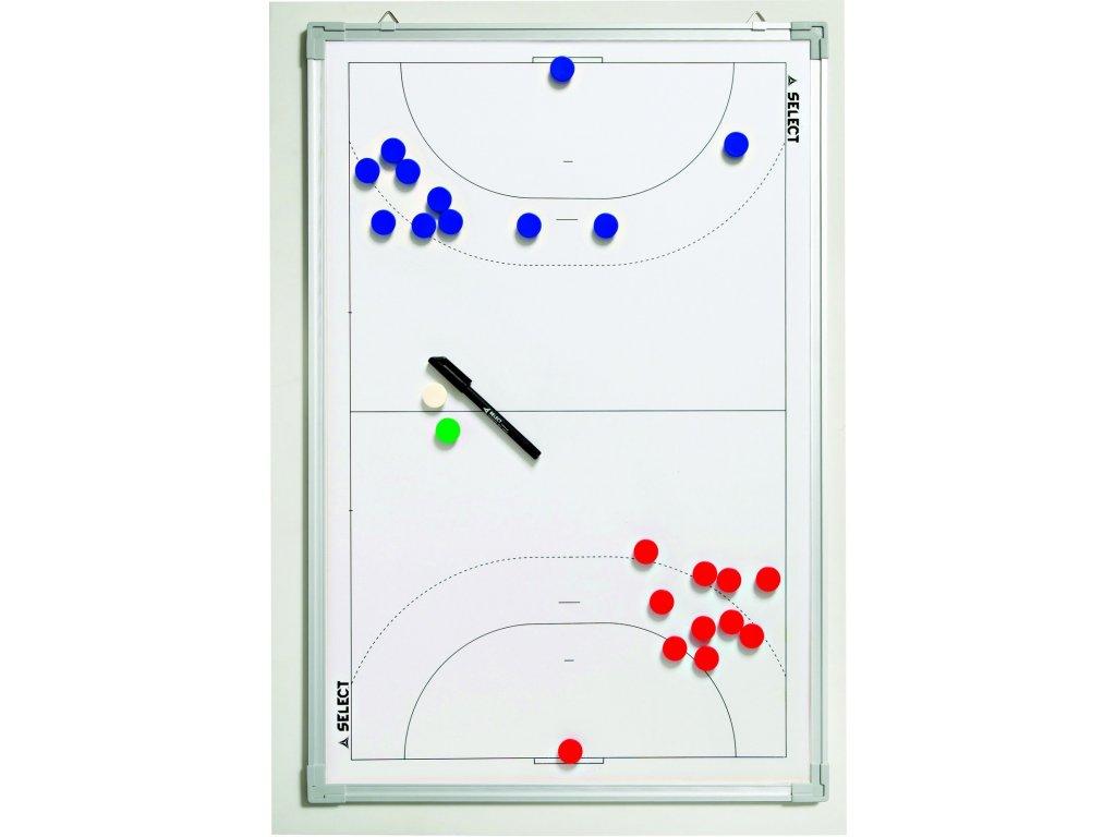Select Taktická tabule Tactics board alu handball bílá 60x90 cm