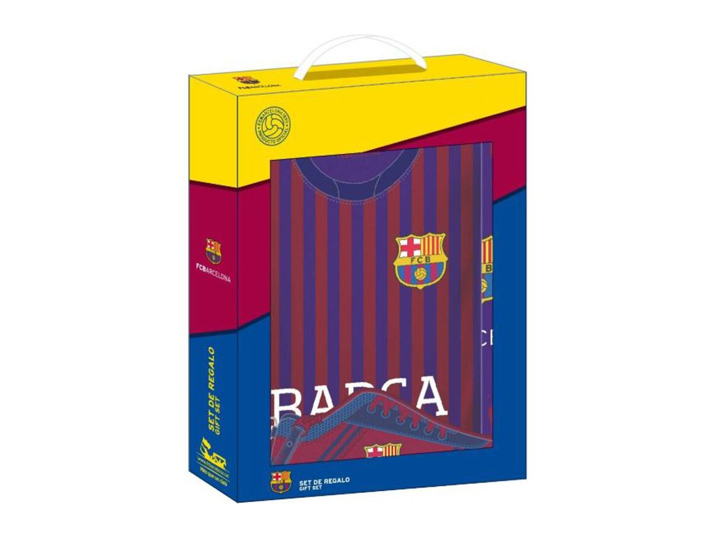76136 darkovy set fc barcelona 11925 2d penal a4 blok desky 35 x 28 x 6 cm