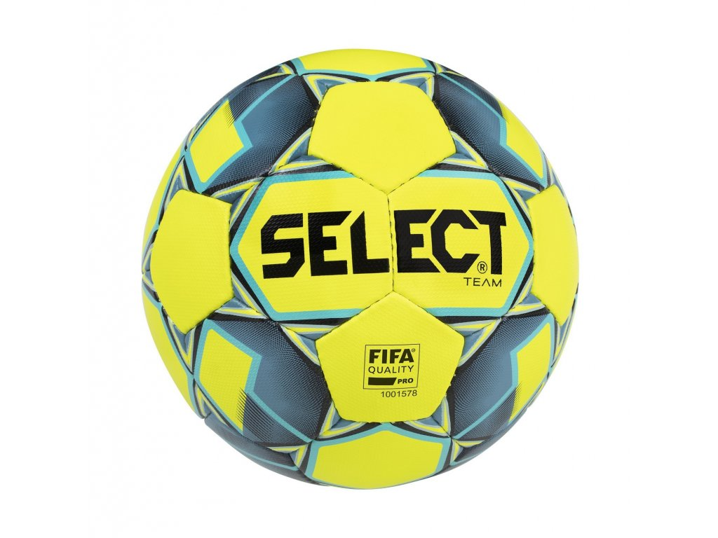 Select Fotbalový míč FB Team FIFA žluto modrá 5 (Velikost 5)