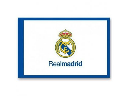 1145189 vlajka real madrid 100x150cm frame