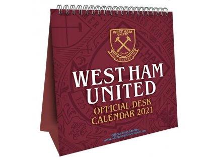 1149506 oficialni stolni kalendar 2021 fc west ham 16 x 17 5 cm