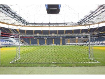Fotbalová branka FIFA Kompakt Plus bílá + vypínací tyče, svařované rohy