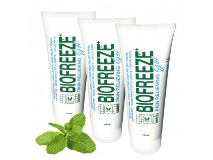3 x Biofreeze Gel - Chladivý gel proti bolesti zad, svalů a kloubů 118ml