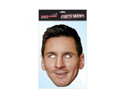 Papírová maska na tvář FC Barcelona: Lionel Messi (21 x 30 cm)