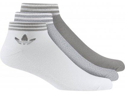 Ponožky adidas Originals Trefoil Ankle (3 páry)
