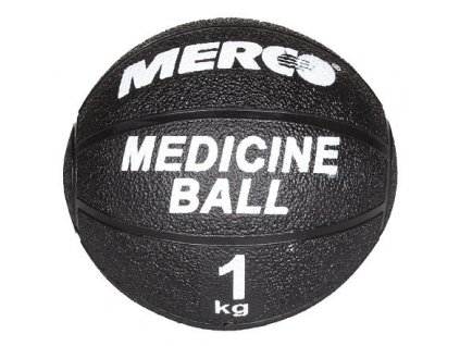 Gumový medicinální míč Merco Black