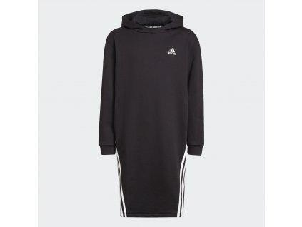 Dětské šaty adidas Primegreen Future Icons 3-Stripes Hooded