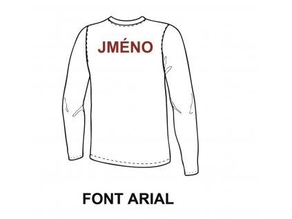 Potisk textilu - Jméno (ARIAL)