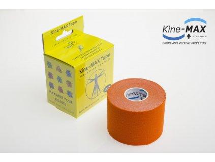 Kinesiologický tejp Super-Pro Cotton (Oranžový) (Rozměr 5 cm x 5 m)