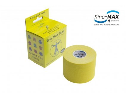 Kinesiologický tejp Super-Pro Cotton (Žlutý) (Rozměr 5 cm x 5 m)