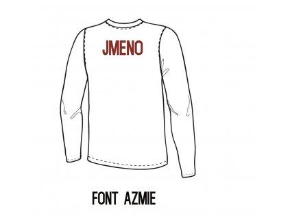 Potisk textilu - Jméno (AZMIE)