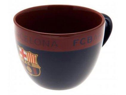 82091 keramicky hrnek barcelona fc cappuccino objem 600 ml modry